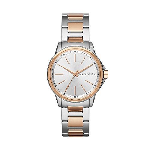Emporio Armani Damen Analog Quarz Uhr mit Edelstahl Armband AX4363