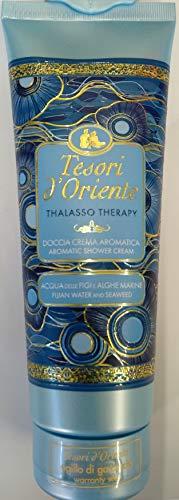 Tesori d'Oriente Thalasso Therapy 250 - Crema de ducha aromática con Acuqa de las figuras y algas marinas, amarillo, L