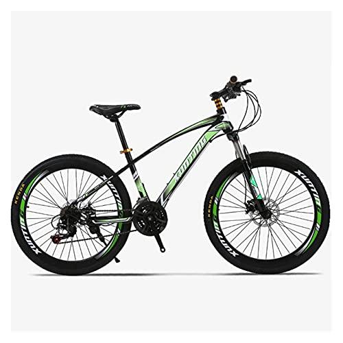 Story 26 Pulgadas 21 Velocidad de transmisión de transmisión de la viga de Anillo 40 Off-Road Racing One Round Mountain Bike (Color : Green)