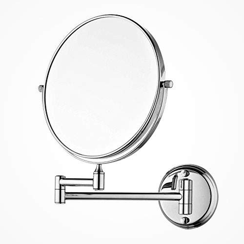 EASY2HOME Stainless Steel Magnifying Shaving Makeup Mirror | Makeup Mirror| Magnifying Looking Mirrorr, (Silver, 8 Inch) (Rod Type)