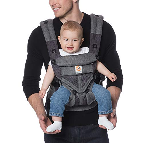 Ergobaby Omni 360 All-Position Baby Carrier for Newborn to Toddler with Lumbar Support and Cool Air Mesh (7-45 Pounds), Classic Weave