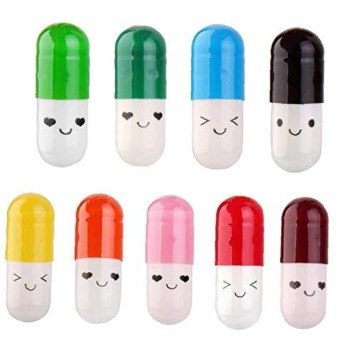 50 PC-Nachricht in der Flasche Kapsel Schreiben nette Freundschaft Farbe Pille-Geschenk (zufällig gesendet)