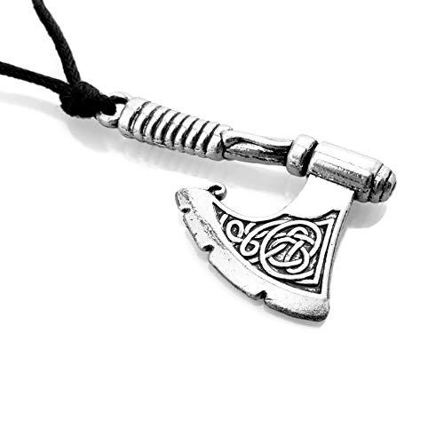 URBANTIMBER Wikinger Halskette Axt mit keltischen Knoten