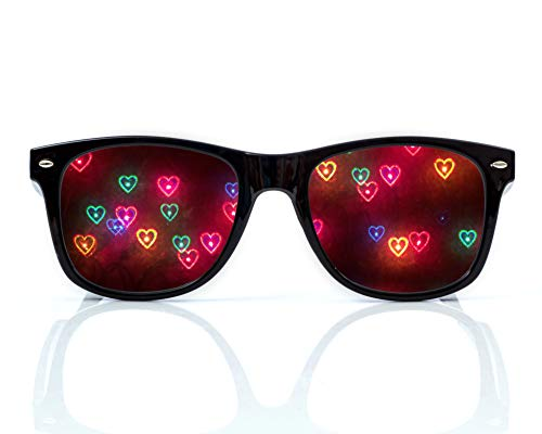 Heart Diffraction Glasses - See Hearts - For Raves, Music Festivals and More
