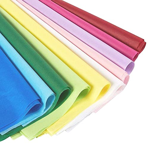 (120 Sheets) Colored Tissue Paper for Gift Wrapping Bags in Bulk for Holidays, Art Crafts, 10...