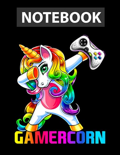 Gamercorn Dabbing Unicorn Video Game Controller Gamer Girl Notebook / 130 pages / US Letter Size