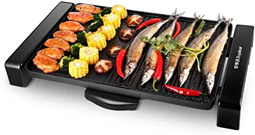 Parrilla eléctrica portátil, 1800W Electric Teppanyaki Grill para acampar, ideal para freír,...