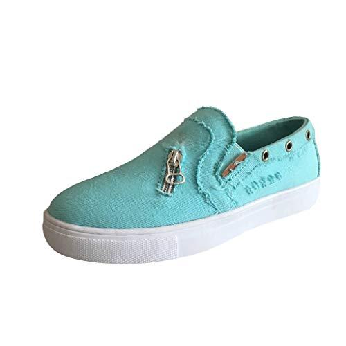 Andouy Mujer Peas Shoes Verano Plano Casual Zapatos individuales, color, talla 39 EU