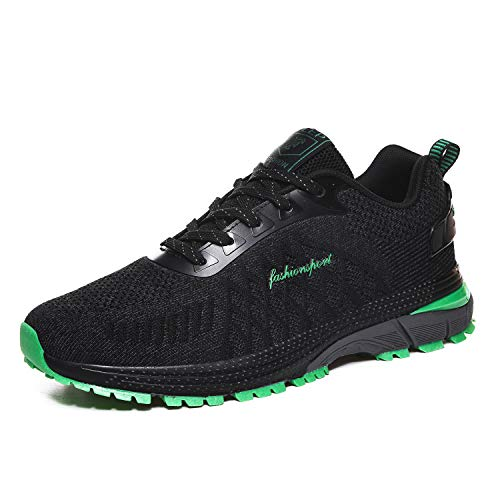 Zapatos Para Correr Para Hombre Zapatos Casuales Ligeros Zapatos De Moda Zapatos Deportivos Antideslizantes Al Aire Libre,Verde,44