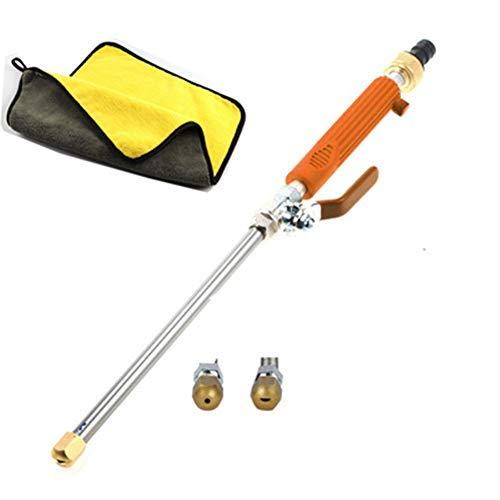 KBLLNPBP Portable High-Pressure Water Gun for Cleaning, Magic High Pressure Wand Verbesserte Hochdruckreiniger, Wasserstrahl-hochdruckreiniger Für Gartenschlauch, Wasserschlauchdüse (Orange)