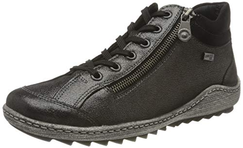 Remonte R1483, Zapatillas Altas Mujer, Negro (Negro/Schwarz 04), 36 EU