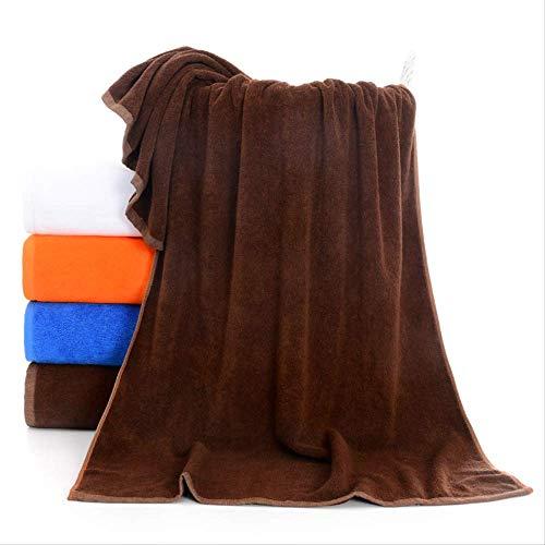 Toalla de baño de 70 x 140 pulgadas gruesa de alta absorción multifunción toalla marrón