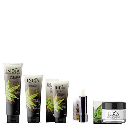 Hochwertiges Premium Beauty-Set mit Cannabis-Öl. Fußbalsam, Handcreme, Gesichtscreme, Haut-Serum, Lipp-balm. Hautpflege im Wert von über 69 Euro!