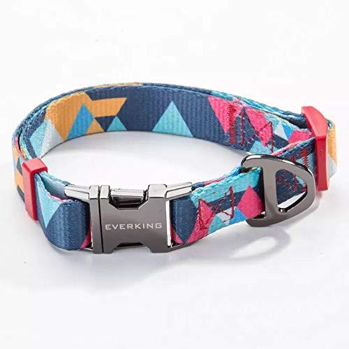 Everking Hundehalsband Halsband Modern Mehrfarbig verstellbar (Large, 0202-3)