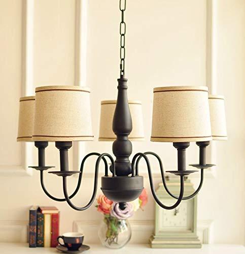 Zenghh Tan Linterna Linterna Chandelier Inglaterra 5 Tenedor de velas Colgante de techo Luz Kraft Papel Color Iluminación Americana Moderno Palacio Palacio Candillosa Colgante Lámpara para el estudio