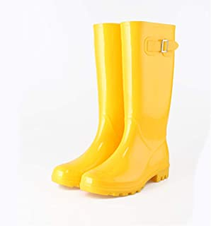 Rubber Boots For Men-Rubber Boots Rain Boots Women's Fashion Models Wear Adult High Tube Korean Water Boots Ladies Water Shoes Cute Rain Boots Non-slip Rubber Shoes  Rain boots
