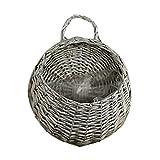 Taloit Jardinera y cestas colgantes con nido de pájaros, cesta de mimbre para colgar en la pared,...