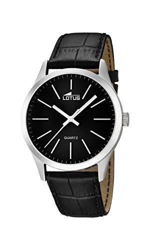 Lotus Herren Analog Quarz Uhr mit Leder Armband 15961/3