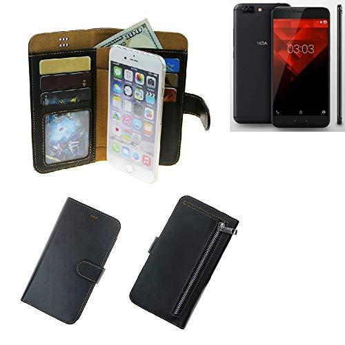 K-S-Trade® Schutzhüll Für NOA H10le Schutz Hülle Portemonnaie Case Phone Cover Slim Klapphülle Handytasche E Handyhülle Schwarz Aus Kunstleder (1 STK)