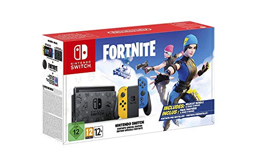 Nintendo Switch Special Edition | Wildcat Themed Console | Themed Dock and Set of Joy Cons | Download Code for Wildcat Bundle and 2000 v-Bucks | with Woov 64GB MicroSD Card Bundle