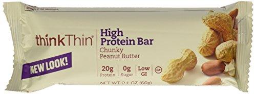 ThinkThin, Chunky Peanut Butter Diet Bar, 2.1oz