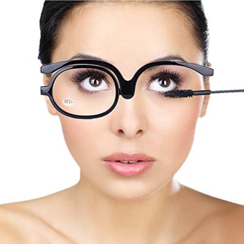 Bril, Vrouwen Make-up Leesbril, Draaibare Flip make-up oogglazen, make-up bril, vergrotende oogmake-up bril, enkele lens roterende bril, vrouwelijke make-up essentiële gereedschap(#6)