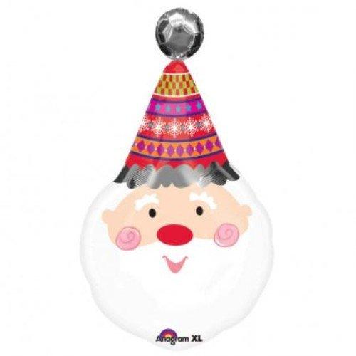 amscan Super Forme Jolly Père Noël Ballon