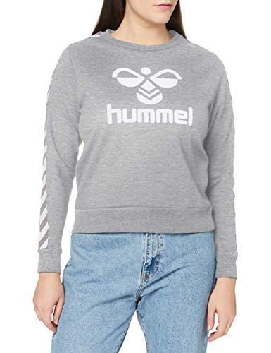 hummel Classic Taped - Sudadera para Mujer, Mujer, Swsht, 211663, Gris, Large
