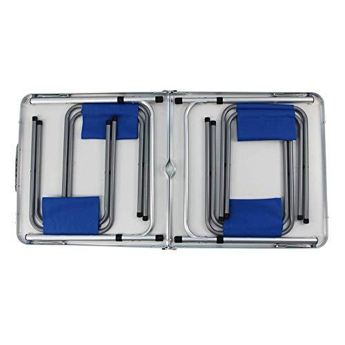 41TpHyjIdOL - JJSFJH Aluminium Außenklapptisch Pendulum Barbecue Camping Zubehör kann über Klappstuhl beweglichen im Freien Picknick-Tisch Adjustable, Folding Camping Tisch mit 4 Stühlen