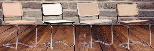 ElleDesign - Silla de trineo de mimbre de madera maciza de haya o negro