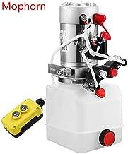 Mophorn 4 Quart Hydraulic Pump Dump Trailer Hydraulic Power Unit 12V Hydraulic Pump Double Acting (Plastic, 4 Quart/Double Acting)