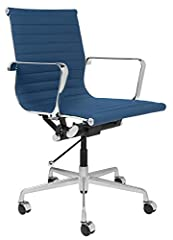 #1 Rated mid century modern office chair from Laura Davidson Direct. Commercial grade construction for home or office - 2 year warranty. Heat embossed ribbing like the original - 3x more durable and superior airflow than cheaper stitched ribbed versi...
