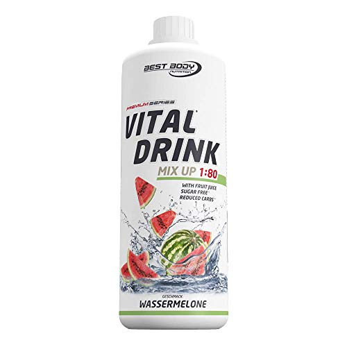 Best Body Nutrition Vital Drink Wassermelone, Getränkekonzentrat, 1000 ml