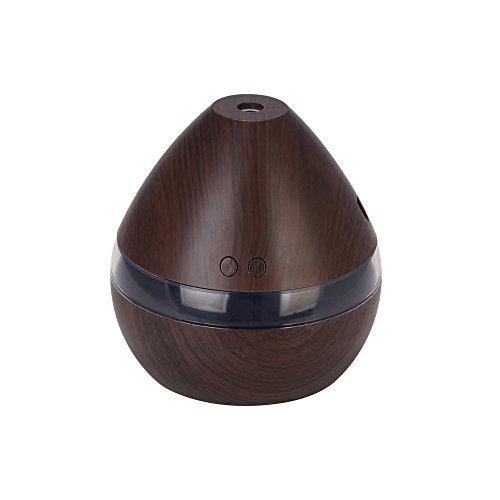 Ultraschall Luftbefeuchter Aroma Diffusor, 300ML Aromatherapie Diffuser ätherische Öle Duftlampe 2 Zerstäubungsmodi mit LED Stimmungslicht Yoga, Büro, SPA, Schlafzimmer