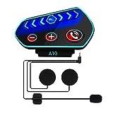Cuffie Bluetooth per Casco Moto- Caschi Auricolare Vivavoce Cuffie per Controllo Chiamata, Ascolta la musica, Anti-interferenza, Antivento, I pulsanti grandi sono facili da usare