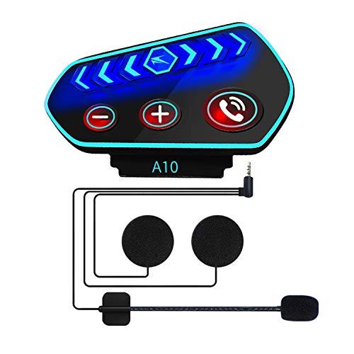 Cuffie Bluetooth per Casco Moto- Caschi Auricolare Vivavoce Cuffie per Controllo Chiamata, Ascolta...