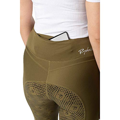 Ladies Horse Riding Tights Created From A Four-Way Strength Fabric That Provides You With A Flawless Full-Coverage (Khaki, 10)