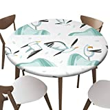 """SfeatrutMAT Elastic Edged Polyester Fitted Table Cover,Hand Drawn Vector Abstract Cartoon Summer time Graphic s Artistic Pattern,Fits up 40""""-44"""" Diameter Tables,The Ultimate Protection for Your Table"""