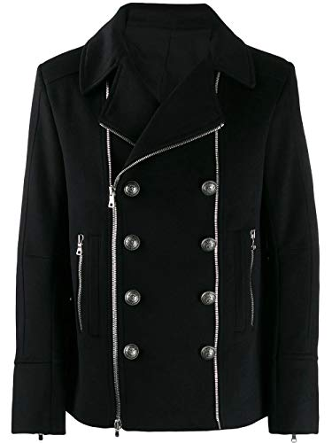 Balmain Luxury Fashion Herren SH18422W0100PA Schwarz Andere Materialien Mantel | Herbst Winter 19