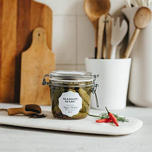 Cornichons Français Aigre-doux • Maison Marc • Cornichons 100 % français • Sans herbicide, sans insecticide, sans conservateur • Made in France