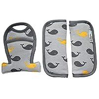 ✅ Il cuscino protegge la cintura ed è adattabile ai modelli Baby Comfort (baby seat), Cybex e BeSafe ✅ Lavabile in lavatrice a 30 gradi, per una migliore igiene e comfort per il tuo bambino. ✅ Il prodotto è composto da tre parti, due protezioni per l...