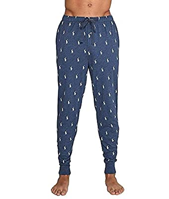 Polo Ralph Lauren Mens Logo Print Relaxed Jogger Pants Blue L by Polo Ralph Lauren