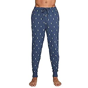 Polo Ralph Lauren Mens Logo Print Relaxed Jogger Pants Blue L