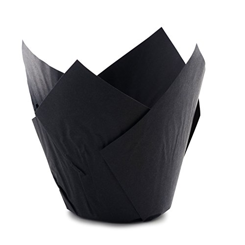 Tulip Standard Cupcake Liners Wrappers Colors (Black, 100)