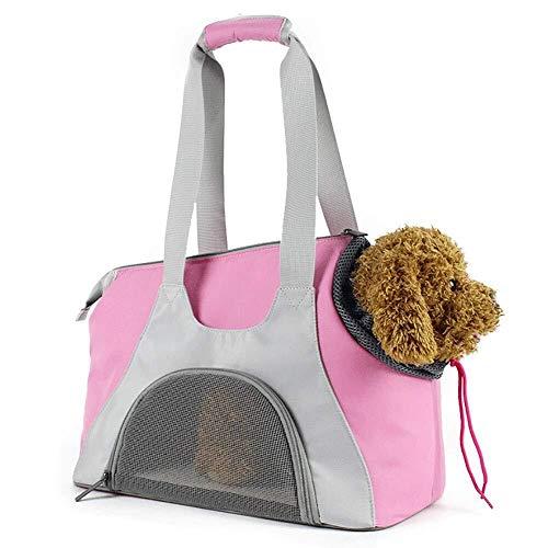 Scra AC Tragbare atmungsaktive Bequeme Oxford-Stoffhundekatzenhandtaschen-Umhängetasche des rosa Haustierbeutels im Freien