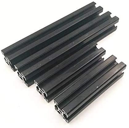 Nuevo Kit de extrusiones de Aluminio anodizado Negro Duradero 1set para Prusa i3 MK3 Y Frame M5 Taladro roscado Piezas de Impresora 3D
