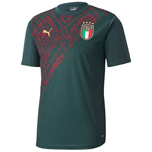 PUMA Herren FIGC Stadium Third Jersey T-Shirt, Ponderosa Pine-Cordovan, L