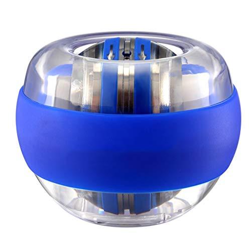LIULU Power Wrist Ball Metall Unterarm Muskeltraining Druckentlastung Fitness Gyroscope Exerciser Kraft Stärkung Ball (Color : Blue)