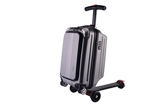 21 Inch Unisex Multi-Functional Scooter Luggage with USB Charging Port (Gray)
