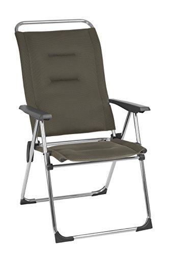 Lafuma Fauteuil de camping pliant, Compact, ALU CHAM, Air Comfort, Couleur: Taupe, LFM2771-6899